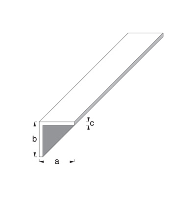 2m x 15mm Equal Sided Angle -  Silver Anodised Aluminium