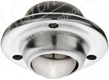 Ball castor, plate fixing, ø 13-25 mm