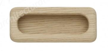 Inset Handle Uninished Oak 97x35mm
