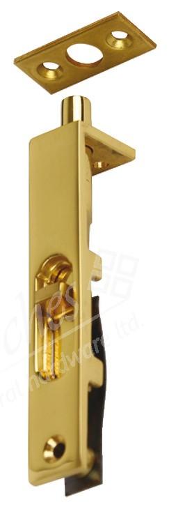 """3"""" Flush Bolt Polished Brass"""