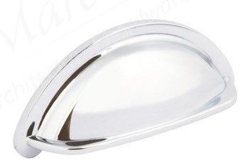 Ariel Cup Handle 76mm centres - Polished Chrome
