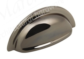 Henrietta Cup Handle 76mm centres - Polished Black Nickel