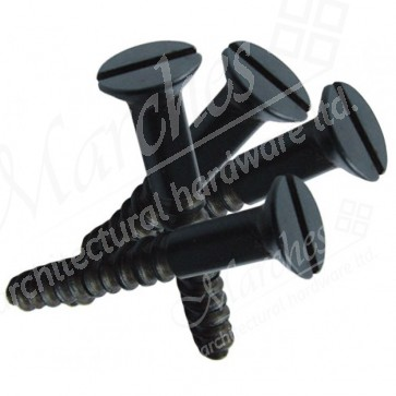 Slotted Black Countersunk Screw (100) - Various Sizes