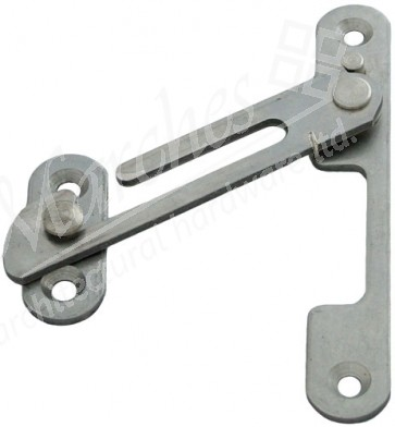 Spring Loaded Restrictor Stay RH - Satin Stainless Steel