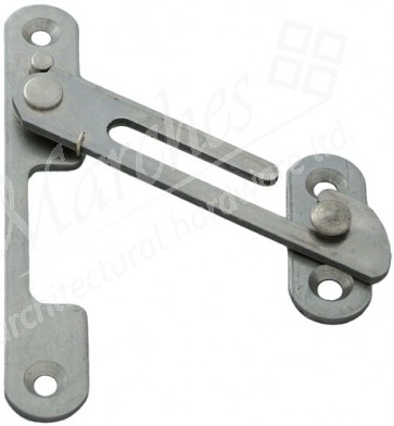 Spring Loaded Restrictor Stay LH - Satin Stainless Steel