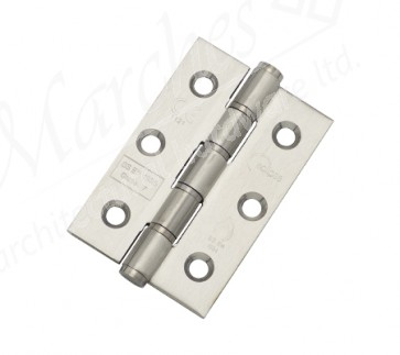 "3""  Washered Butt Hinge (Pair) - Polished Stainless Steel"