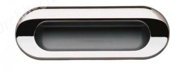 Flush Handle 111x41mm - Polished Chrome/Aluminium Coloured