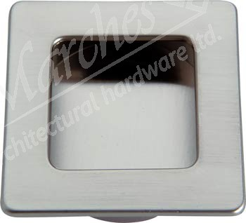 Inset handle, 50 x 50 mm