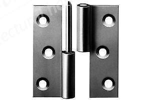 """3"""" Lift-Off Butt Hinges LH (pair) - Zinc"""