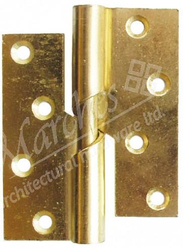 "4"" Steel Rising Butt Hinge LH (pair) - Electro Brass"