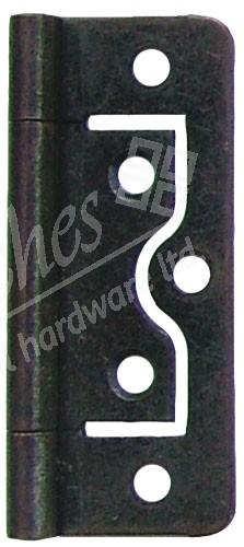 "2.5"" Flush Steel Hinge Bronzed (pair)"