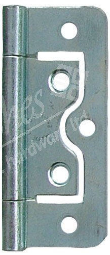 "2.5"" Flush Steel Hinge Zinc Plated (pair)"