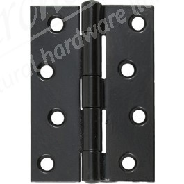 "4"" Steel Butt Hinges (pair) - Black Powder Coated"