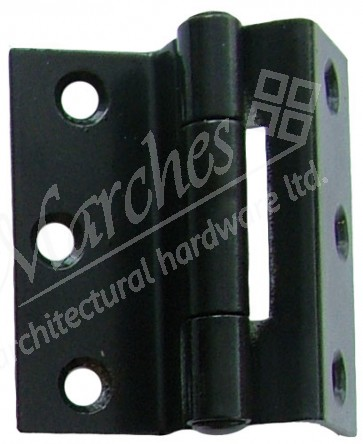 "2.5"" 1951 Stormproof Hinges (pair) - Black"