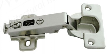 Sprung Kitchen Hinge Full Overlay 110º Clip On (pair) - Nickel Plated