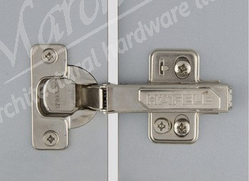 Sprung Kitchen Hinge Inset 110º Clip On (pair) - Nickel Plated