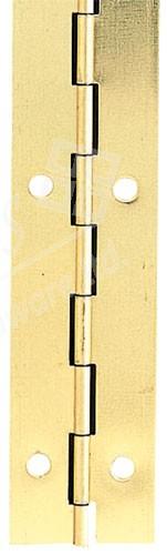 Steel Piano Hinge 40mm x 3.5m - Electro Brass