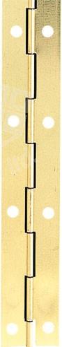 Steel Piano Hinge 32mm x 3.5m - Electro Brass