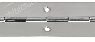Steel Piano Hinge 32mm x 3.5m - Nickel Plated