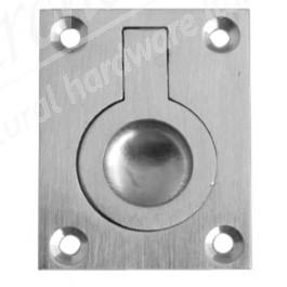 Flush Ring Pull - Satin Chrome