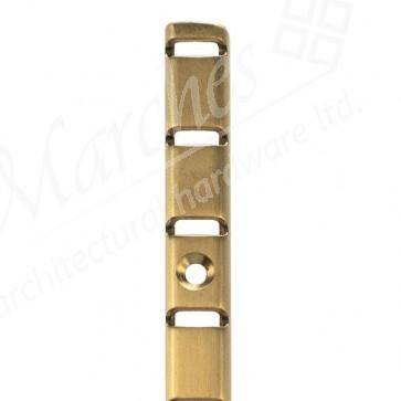 """U"" Section Bookcase Strip 1.83m - Electro Brass"