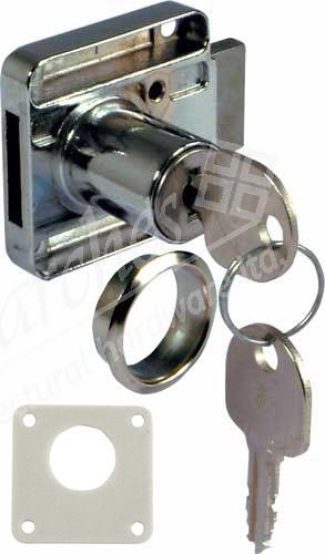 18mm Drawer Rim Lock LH - Nickel Plated