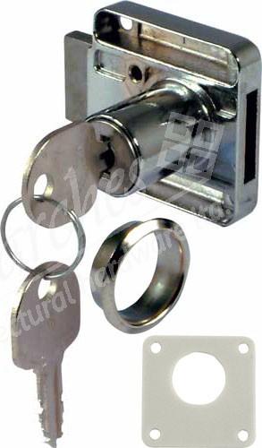 18mm Drawer Rim Lock RH - Nickel Plated