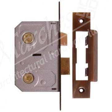"Bathroom Mortice Lock 2.5"" - Florentine Bronze"