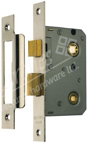 "Bathroom Mortice Lock 2.5"" - Nickel Plated"