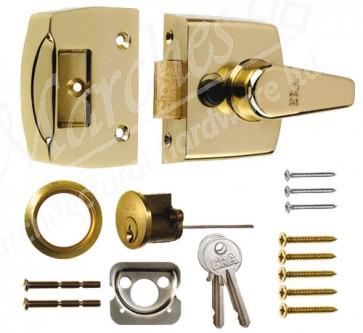 ERA - 60mm Night Latch - Brass Case & Cylinder
