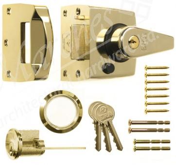 ERA - Night Latch Double Locking 40mm Backset - Polished Brass