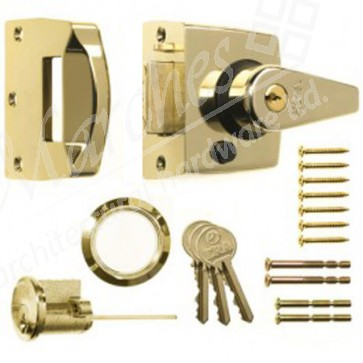 ERA - Night Latch Double Locking 60mm Backset - Polished Brass