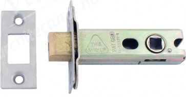Heavy Duty Tubular Dead Bolt 8mm Spindle Polished Brass/Satin Stainless Steel
