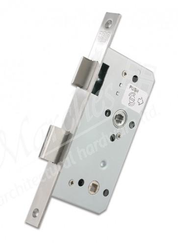 DIN Bathroom Lock 60mm Backset  - Satin Stainless Steel