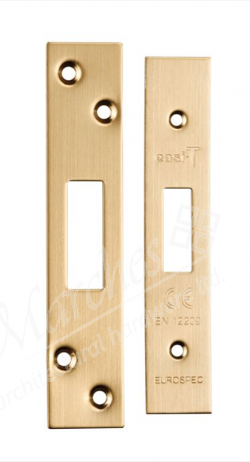 Forend and Strike Pack to Suit EDS/LDS Deadlock - Satin Brass