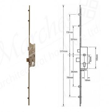 Fuhr 4 Rollers 92mm Centres UPVC Lock 35mm Backset