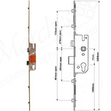 GU 4 Rollers 92 Centres UPVC Lock 35mm Backset