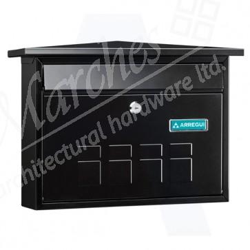 Arregui Deco Post Box - Black