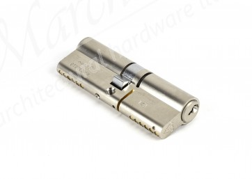 45/45 3 Star Double Euro Cylinder Nickel Plated