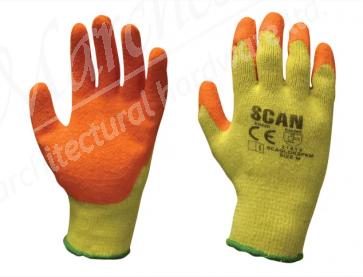 Multi Purpose Latex Grip Gloves - L (Size 9)
