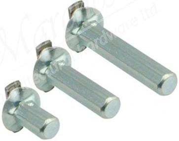 Hexagonal section arresting pins