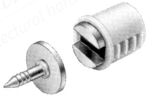 Magnetic Catch Pull 2-3kg mortice type - white