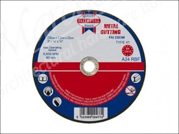 230mm x 3.2 x 22dia METAL CUT OFF DISCS
