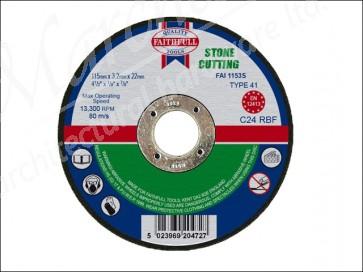 115mm x 3.2 x 22dia STONE CUT OFF DISCS