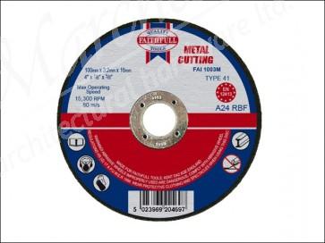 100mm x 3.2 x 16 dia METAL CUT OFF DISCS