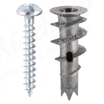 Metal J-Plug Plasterboard Fixing 30mm
