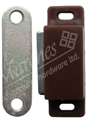 Magnetic Catch 6kg Pull - Brown - Catches - Cabinet Locks ...