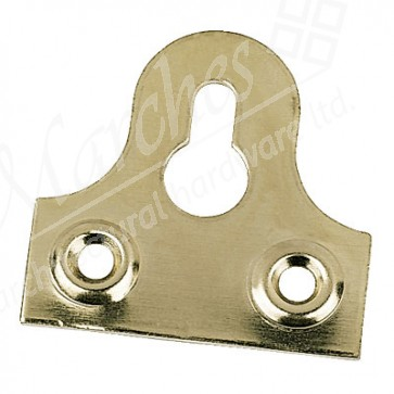 Electro Brass Slotted Mirror Plate 1 1/4""