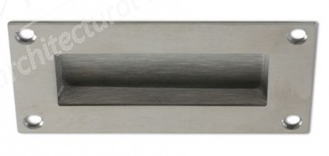 Flush Pull Handle 100mm x 50mm - Satin Stainless Steel