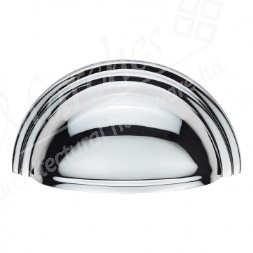 Victorian Cup Pull - Polished Chrome